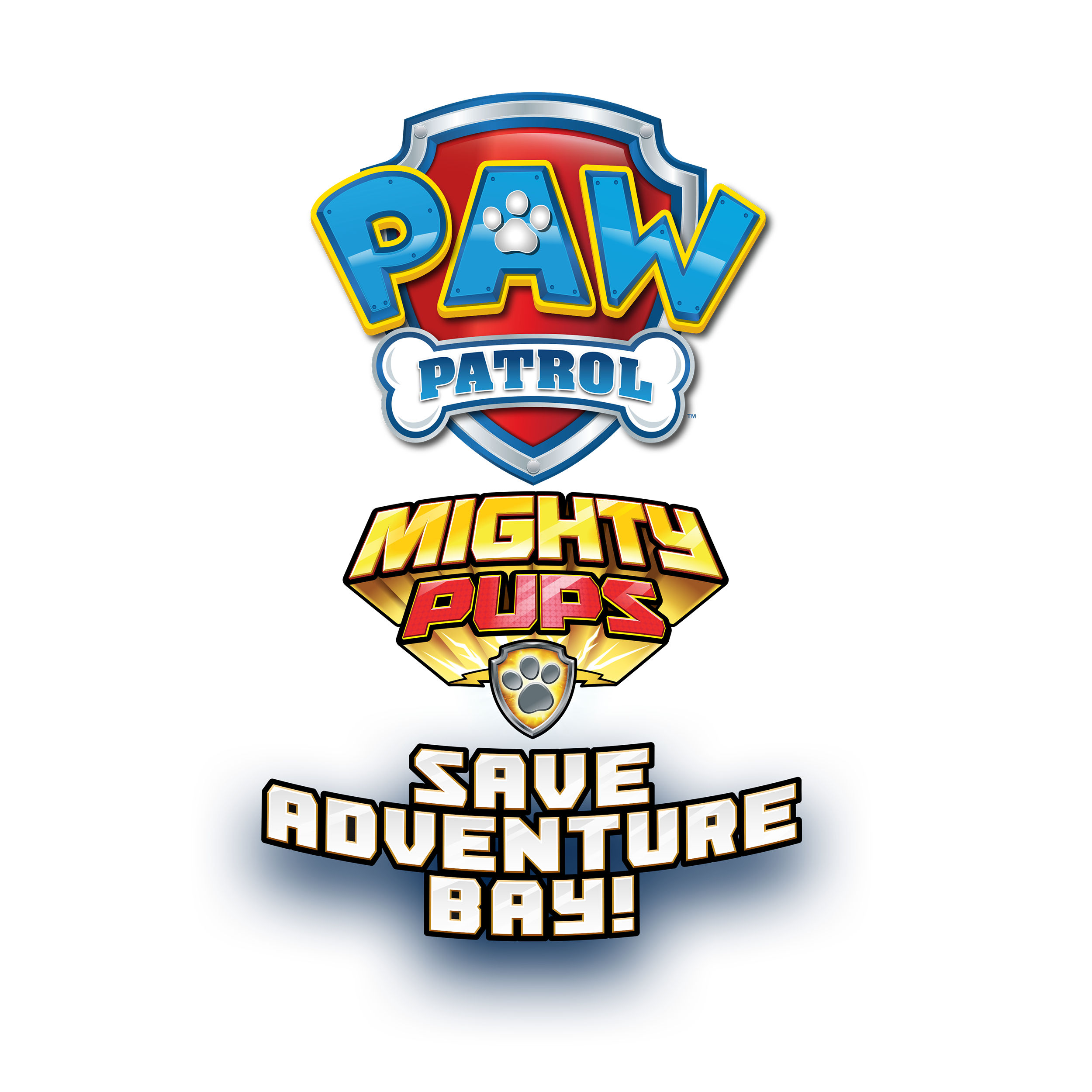 Paw Patrol Mighty Pups Save Adventure Bay - Logo 2500